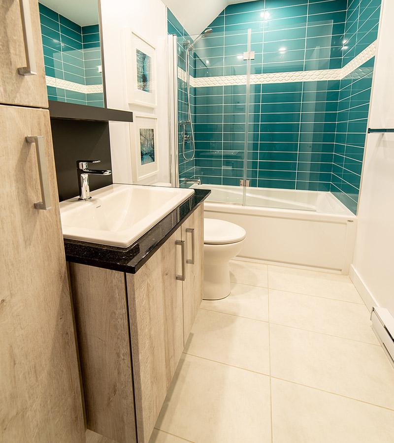 Salle de bain privée dans chambre 2-Havres Urbains-Penthouse 401