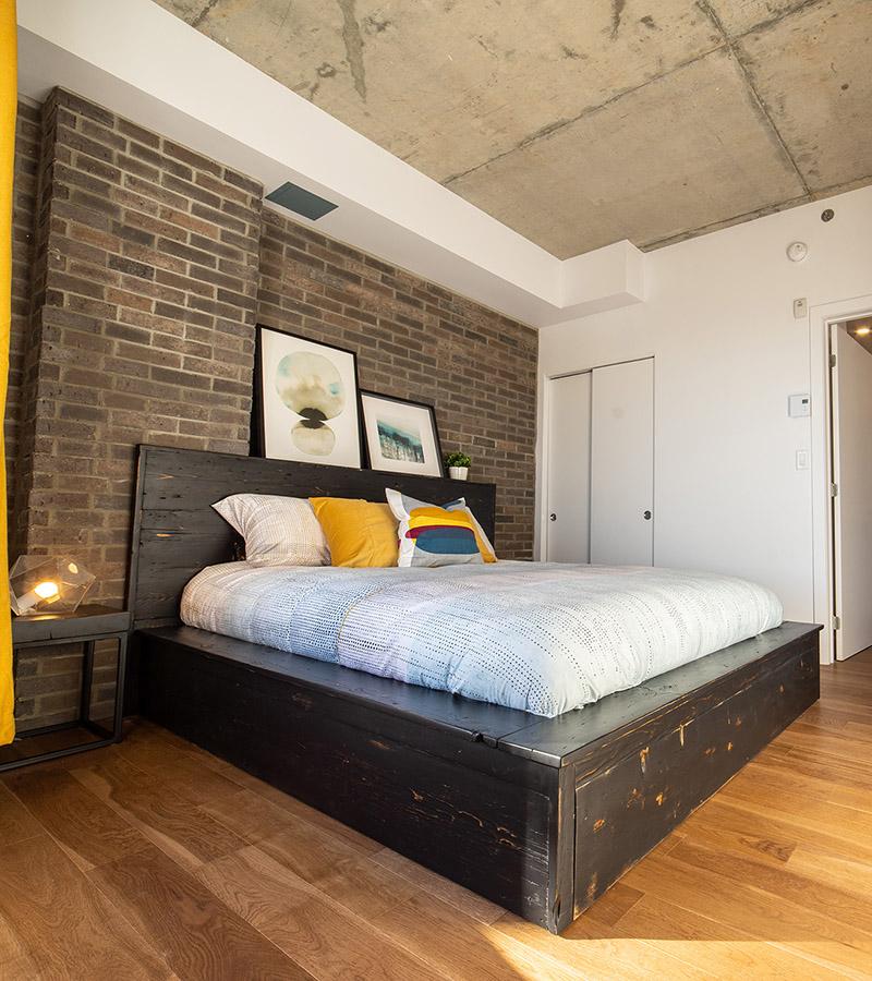 Chambre 2 avec lit Queen-Havres Urbains-Penthouse 401