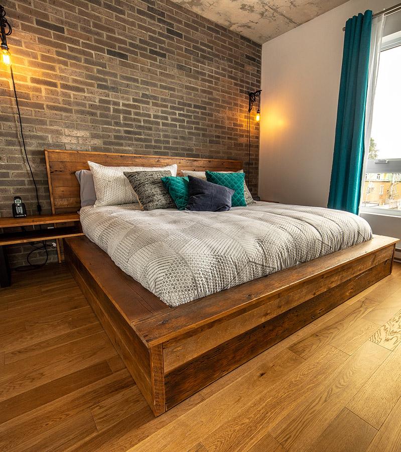 Chambre 1 avec lit King-Havres Urbains-Penthouse 401