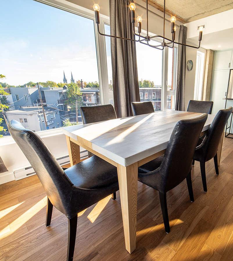 Dinner table-Havres Urbains-Penthouse 401